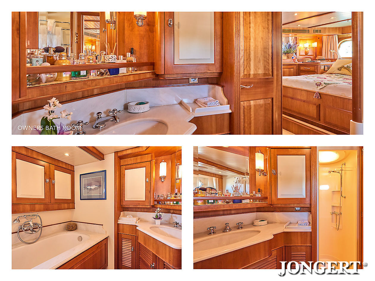 395 Anamcara Owners bathroom - Jongert Shipyard